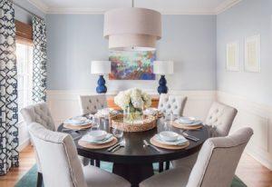نورپردازی با توجه به ابعاد و شکل میز