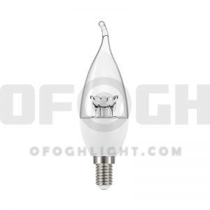 لامپ ال ای دی اشکی کندل شفاف 7 وات افق