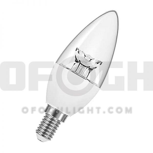 لامپ ال ای دی شمعی کندل شفاف 7 وات افق