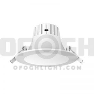 چراغ اس ام دی SMD سقفی آی پی IP44 توکار 5 وات افق